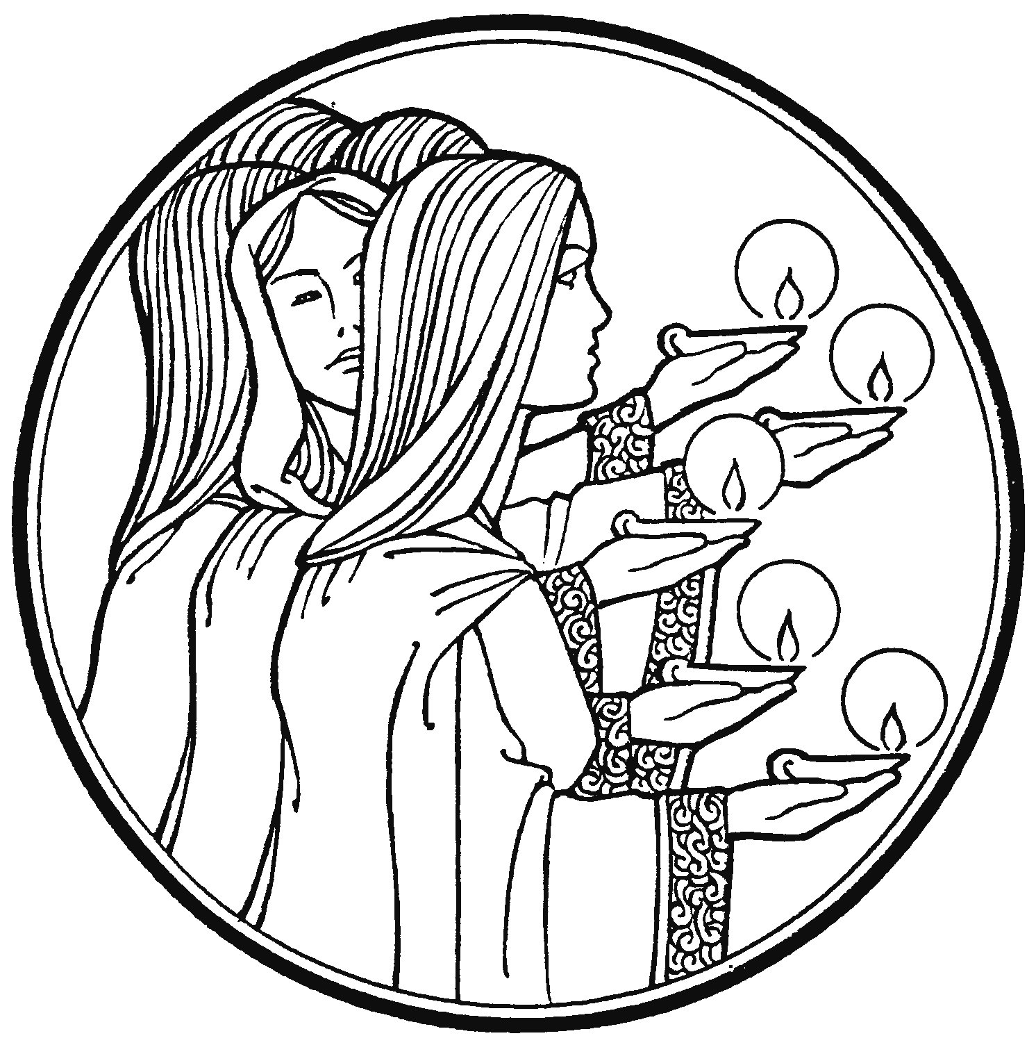 parable of the talents coloring page - Clip Art Library | 1504x1492