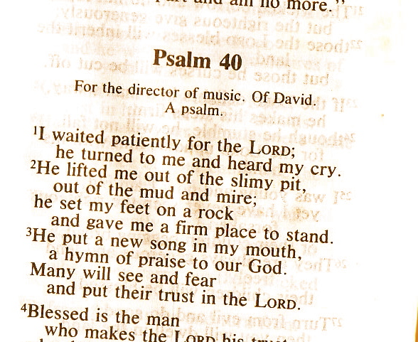 psalm 40 alluding to gods will Abstract: a recent graduate thesis proposes an intriguing new means for discerning if the book of mormon is historic or not by looking at book of mormon.